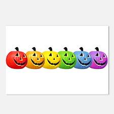 Rainbow Pumpkins Postcards (Package of 8)
