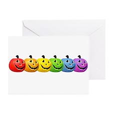 Rainbow Pumpkins Greeting Cards (Pk of 10)