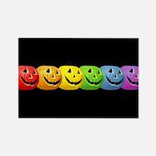 Rainbow Pumpkins Rectangle Magnet
