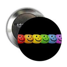 Rainbow Pumpkins Button