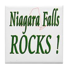 Niagara Falls Rocks ! Tile Coaster