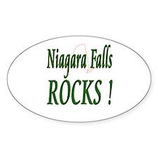 Niagara Falls Rocks ! Oval Decal