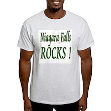 Niagara Falls Rocks ! Ash Grey T-Shirt