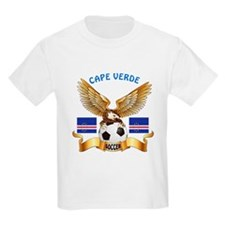Cape Verde Football Design T-Shirt