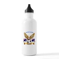 Cayman Islands Football Design Water Bottle