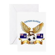 Cayman Islands Football Design Greeting Card