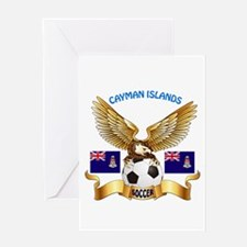 Cayman Islands Football Design Greeting Card