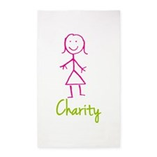 Charity-cute-stick-girl.png 3'x5' Area Rug