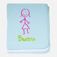 Beatriz-cute-stick-girl.png baby blanket