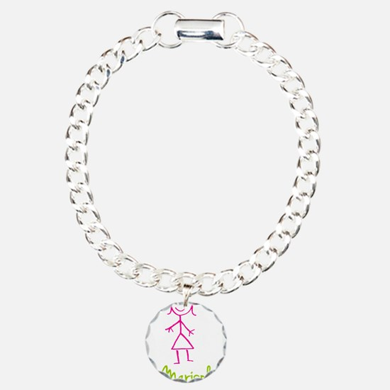 Marisol-cute-stick-girl.png Charm Bracelet, One Ch