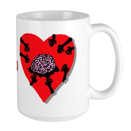 I love you more than a Zombie Large Mug