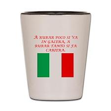Italian Proverb Stealing Shot Glass