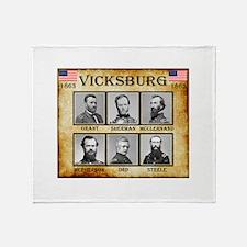 Vicksburg - Union Throw Blanket