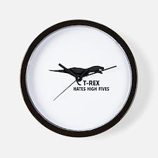 T-REX HATES HIGH FIVES Wall Clock