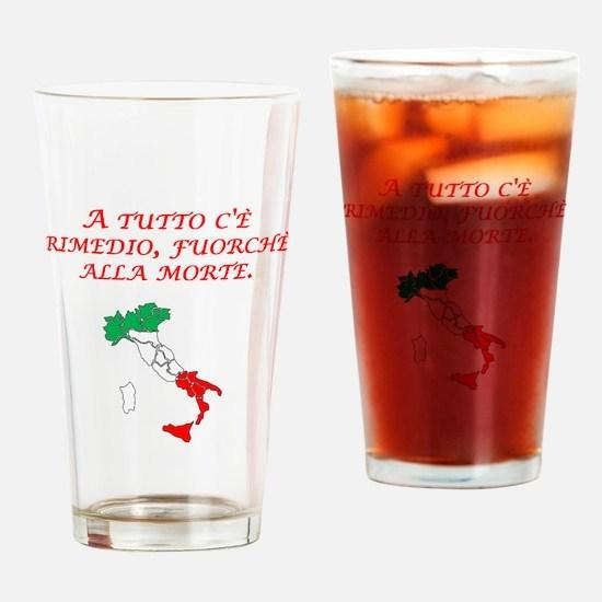 Italian Proverb Death Drinking Glass