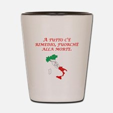 Italian Proverb Death Shot Glass