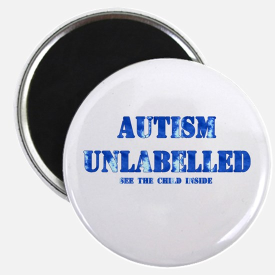 Autism Unlabelled See The Child Inside Blue Magnet