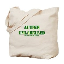 Autism Unlabelled See The Child Inside Green Tote