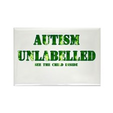 Autism Unlabelled See The Child Inside Green Recta