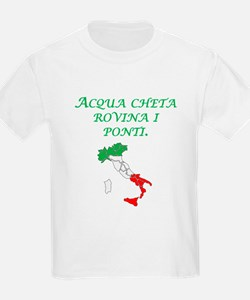 Italian Proverb Silent Waters T-Shirt