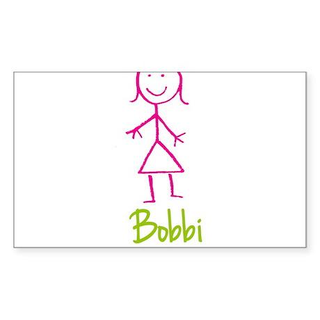 Bobbi-cute-stick-girl.png Sticker (Rectangle)