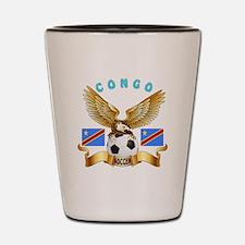 Congo Football Design Shot Glass
