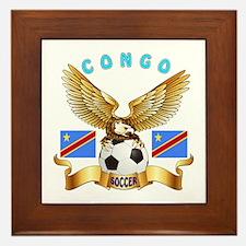Congo Football Design Framed Tile