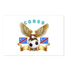 Congo Football Design Postcards (Package of 8)