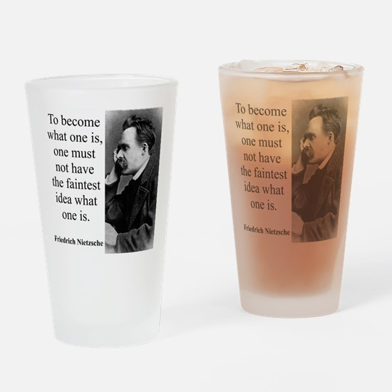 To Become What One Is - Nietzsche Drinking Glass