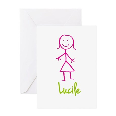 Lucile-cute-stick-girl.png Greeting Card