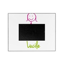 Lucile-cute-stick-girl.png Picture Frame