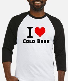 I Love Cold Beer Baseball Jersey