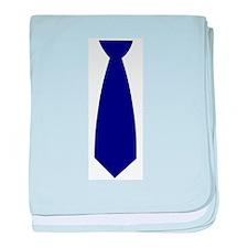 Navy Blue Necktie (Neck Tie) baby blanket