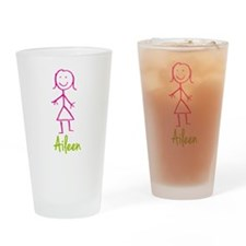 Aileen-cute-stick-girl.png Drinking Glass