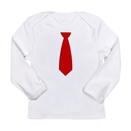 Red Necktie (Neck Tie) Long Sleeve Infant T-Shirt