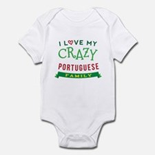 I Love My Crazy Portuguese Family Infant Bodysuit