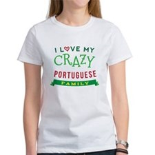 I Love My Crazy Portuguese Family Tee
