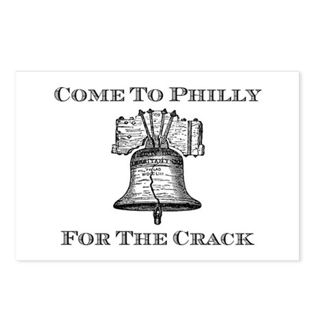 Come To Philly For The Crack Postcards (Package of