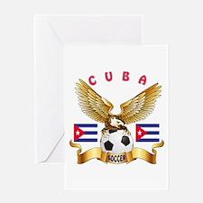 Cuba Football Design Greeting Card