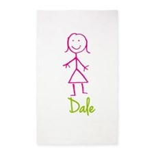 Dale-cute-stick-girl.png 3'x5' Area Rug