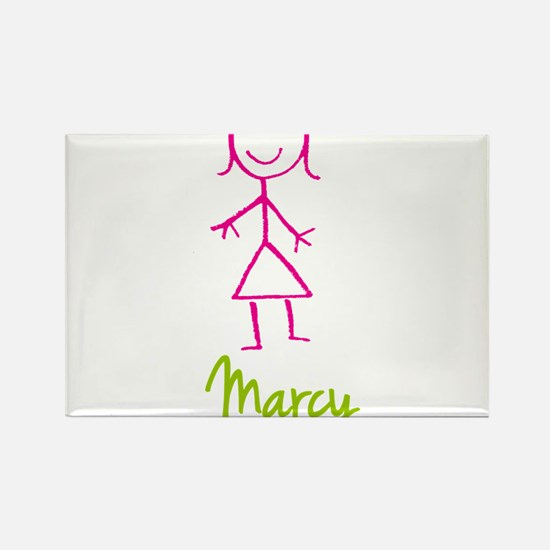 Marcy-cute-stick-girl.png Rectangle Magnet