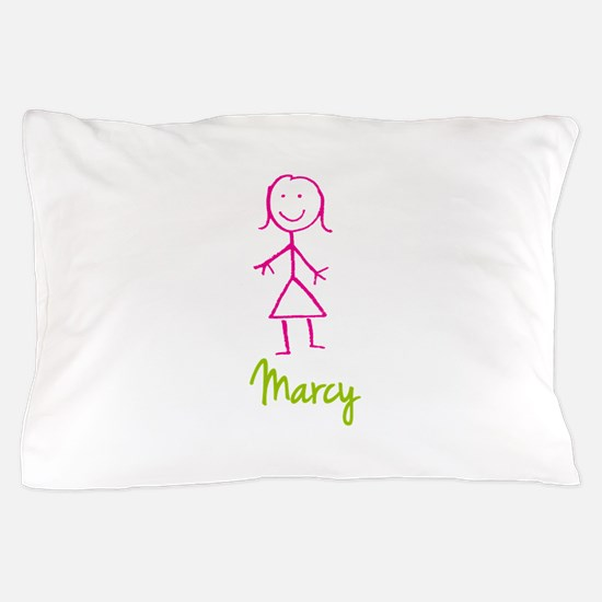 Marcy-cute-stick-girl.png Pillow Case