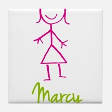 Marcy-cute-stick-girl.png Tile Coaster