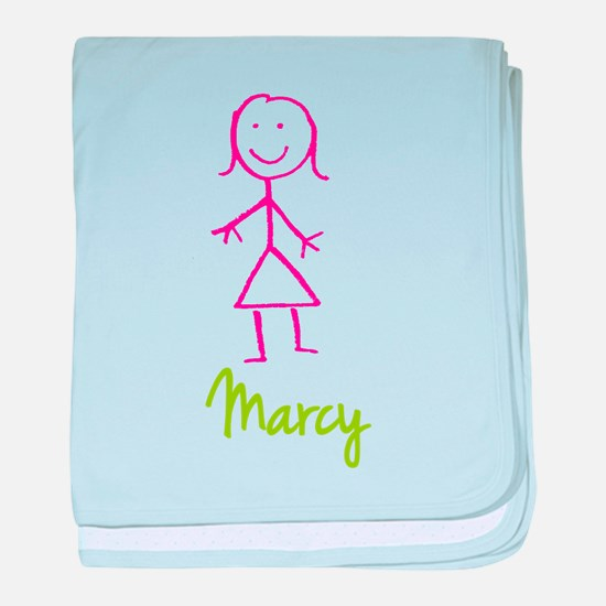 Marcy-cute-stick-girl.png baby blanket