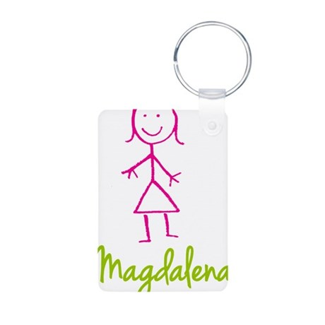 Magdalena-cute-stick-girl.png Aluminum Photo Keych