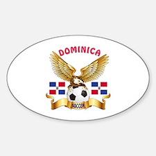 Dominica Republic Football Design Decal