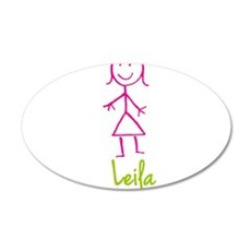 Leila-cute-stick-girl.png Wall Decal