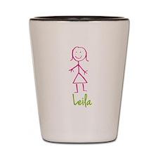 Leila-cute-stick-girl.png Shot Glass