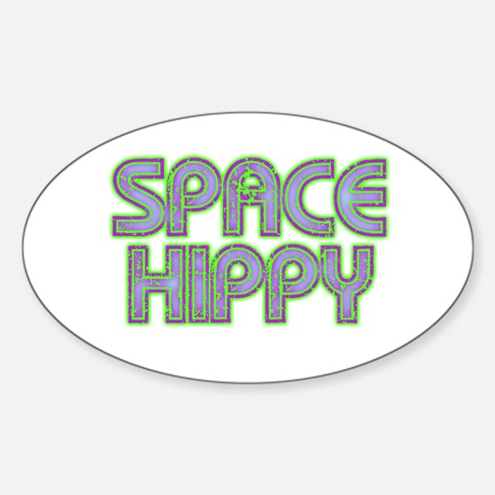 space hippy Sticker (Oval)