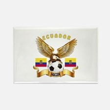 Ecuador Football Design Rectangle Magnet